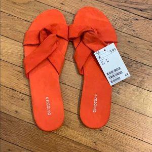 H&M Divided Orange/red sandals - Size 39/8